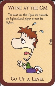 Munchkin Card called Whine at the GM