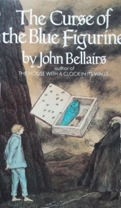 The cover of The Curse of the Blue Figurine by John Bellairs