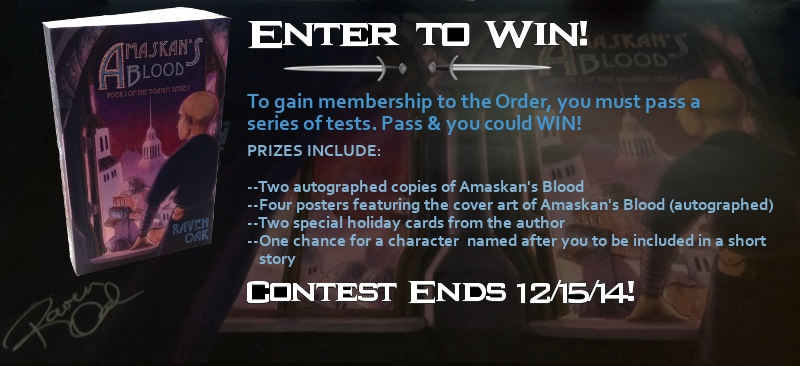 Enter to win the Amaskan's Blood Contest.