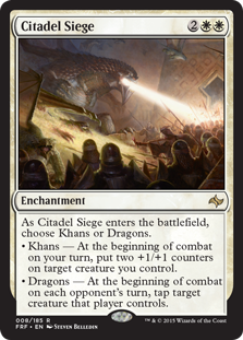 Magic the Gathering Fate Reforged Citadel Siege card