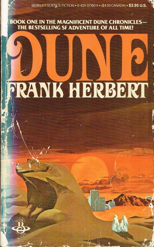 Dune by Frank Herbert Book Cover Throwback