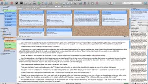 Scrivener Saturday Split Screen