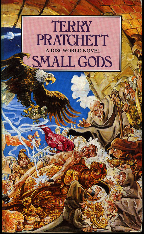 Book Cover Throwback Small Gods Terry Pratchett