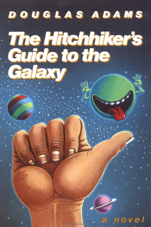 Hitchhiker's Guide to the Galaxy by Douglas Adams Book Cover