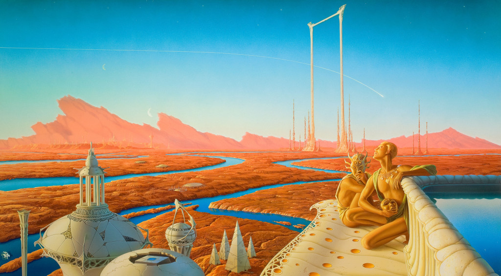 Book Cover Throwback: The Martian Chronicles by Ray Bradbury