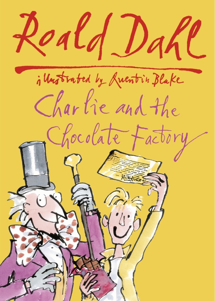 Book Cover Throwbacy: Charlie and the Chocolate Factory