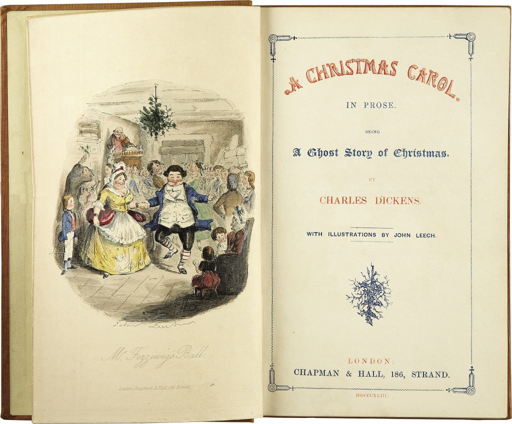 Christmas Carol Book Cover Throwback