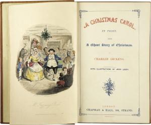 Christmas Carol Book Cover Throwback