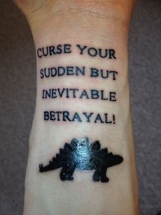 Betrayal tattoo