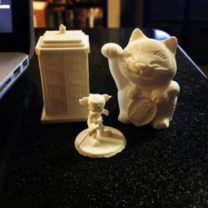 group of printed objects