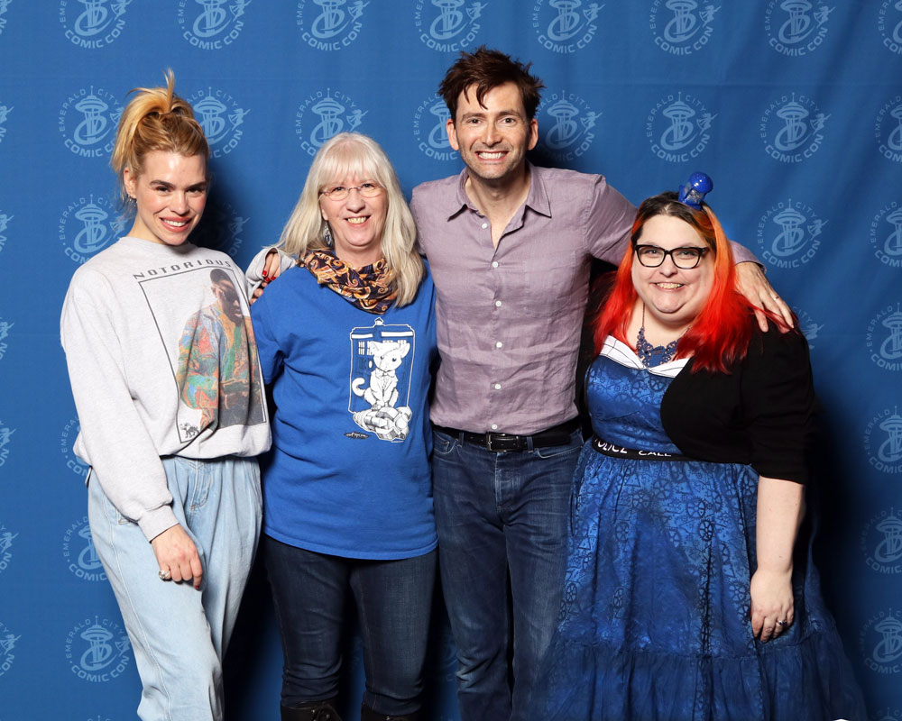 Me with David Tennant and others