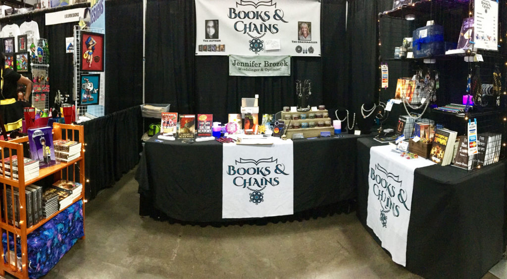 Books & Chains booth