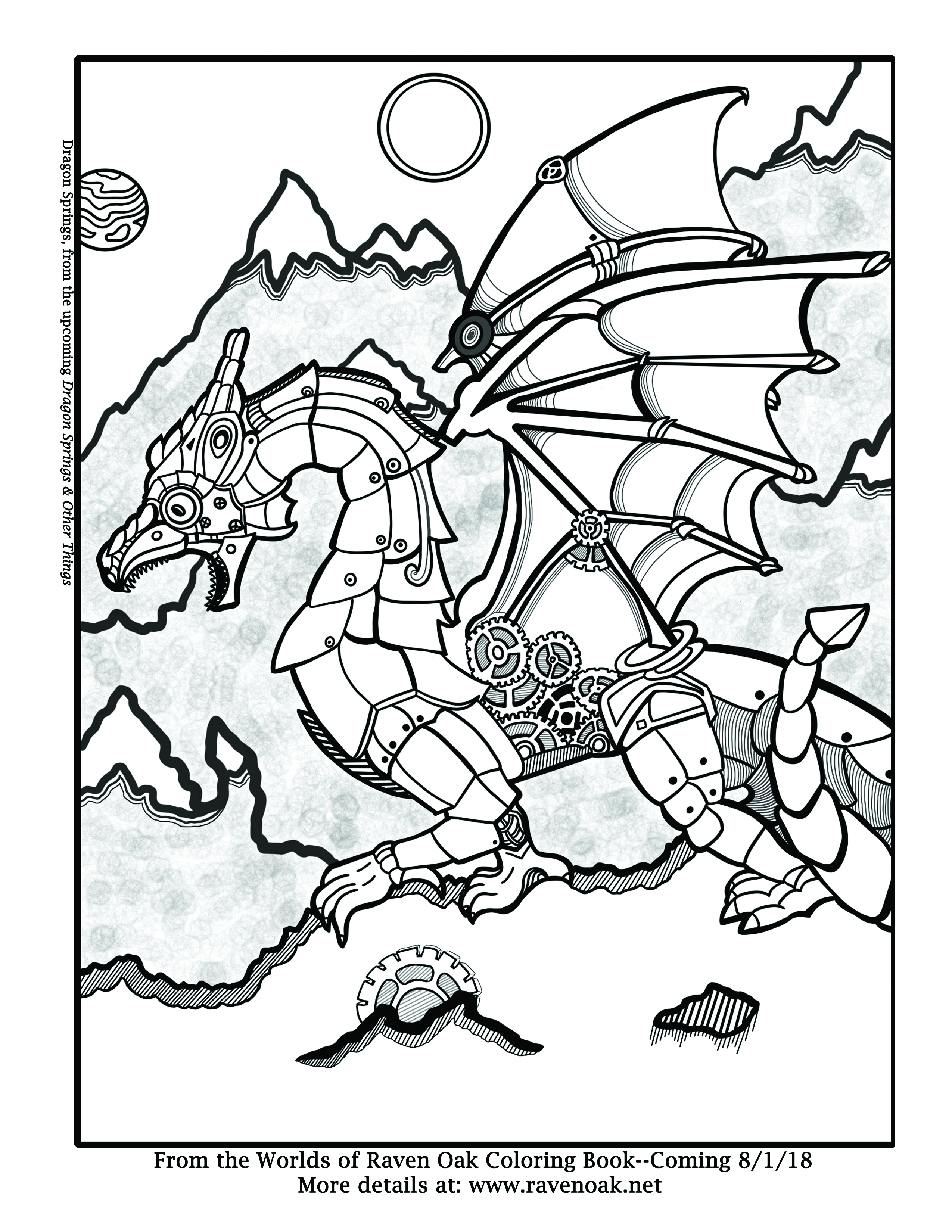 Dragon springs coloring page