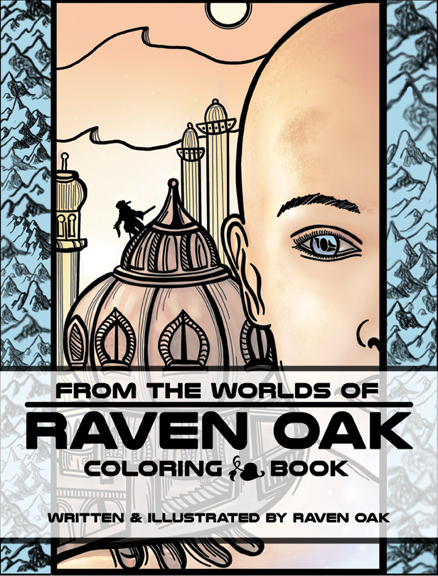 From The Worlds Of Raven Oak Coloring Book Raven Oak