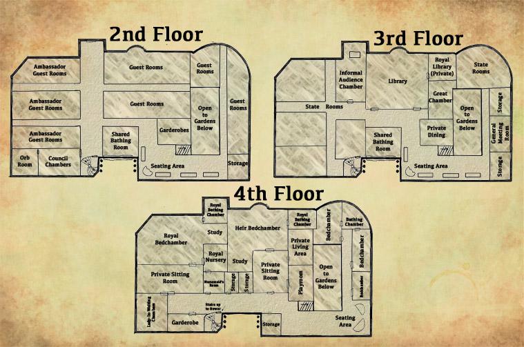 Alesta Castle map
