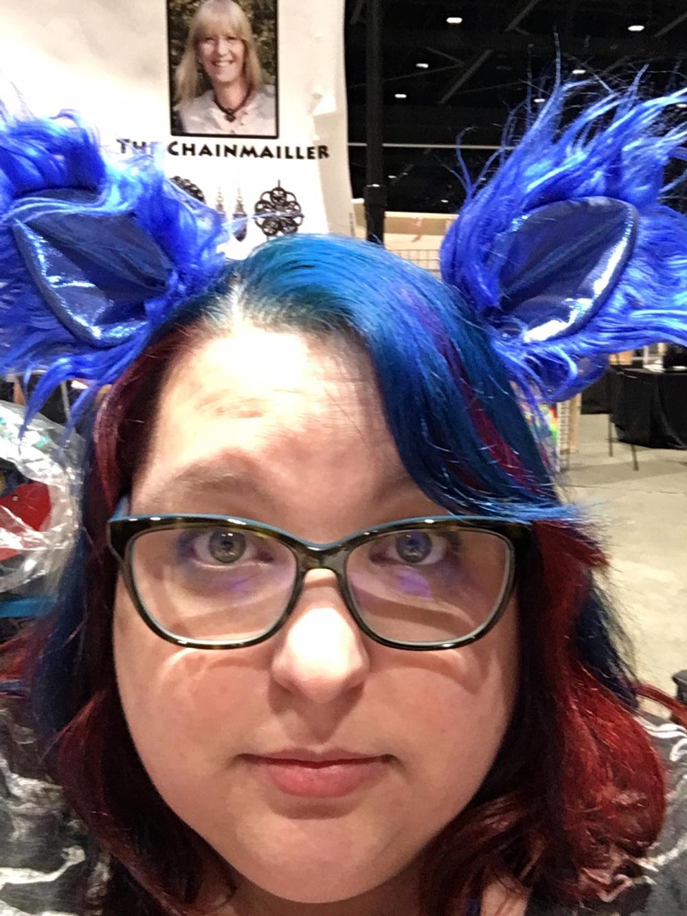 Funny blue ears